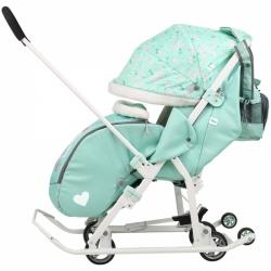 санки-коляска disney baby 2 минни маус мятный