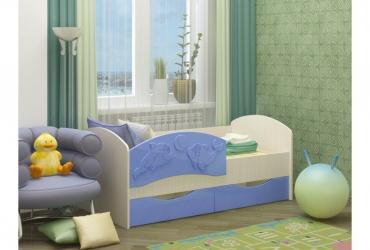 кровать дельфин-2 голубой
