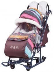 санки-коляска «ника детям 7-3» сканд. розовый