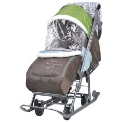 санки-коляска наши детки оливковый