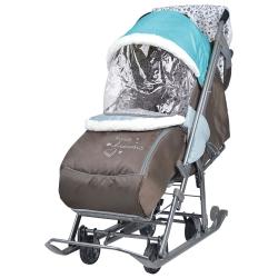санки-коляска наши детки голубой