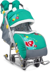 санки-коляска ника детям 7-2 изумруд
