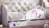 Кровать Звёздочка с бортиком бежевый