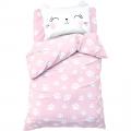 Постельное белье 1,5 сп Pink cat