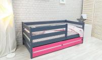 Кровать Сонечка графит/розовый