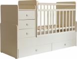 Кровать детская Фея 1100 слоновая кость