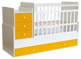 Кровать детская Фея 1100 белый-солнечный