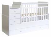 Кровать детская Фея 1200 белый