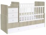 Кровать детская Фея 1100 вяз белый
