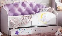Кровать Звёздочка с бортиком сиреневый