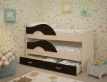 Выкатная кровать «Радуга» дуб/венге