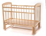 Кроватка Мишутка-11 маятник светлая
