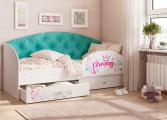 Кровать Эльза бирюза