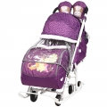 Санки-коляска Disney baby 2 Винни Пух баклажан