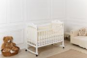 Кровать «Incanto Sofi» с сердечком, цвет белый, колесо-качалка