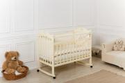 Кровать «Incanto Sofi» с сердечком, цвет сл.кость, колесо-качалка
