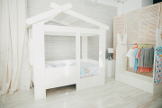 Кровать Теремок белый/белый