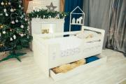 Кровать манеж горизонтали с ящиком