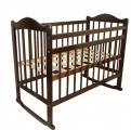 МОЙ МАЛЫШ Кровать детская 01 колесо-качалка темный