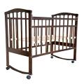 Кроватка Агат Золушка-1 колесо-качалка шоколад