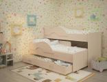 Выкатная кровать «Радуга» дуб
