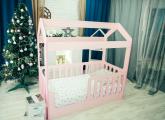 Кровать Домик без ящика розовый