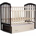 Кровать детская Алита-4 венге-слон