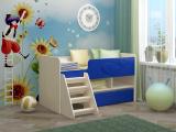 Кровать Юниор МДФ синий