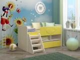 Кровать Юниор МДФ желтый
