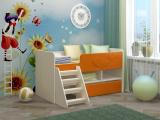 Кровать Юниор МДФ оранжевый