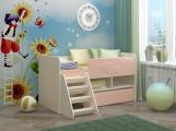 Кровать Юниор МДФ розовый