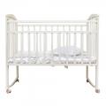 Кроватка Агат Золушка-1 колесо-качалка белая