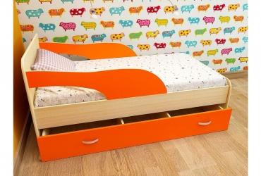 кровать максимка оранжевый