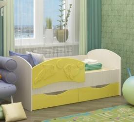 кровать дельфин-2 желтый
